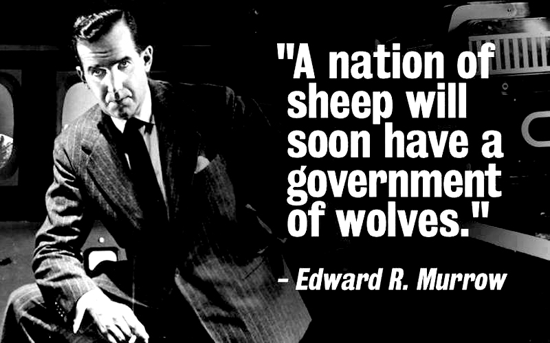 a nation of sheep will soon have a government of wolves