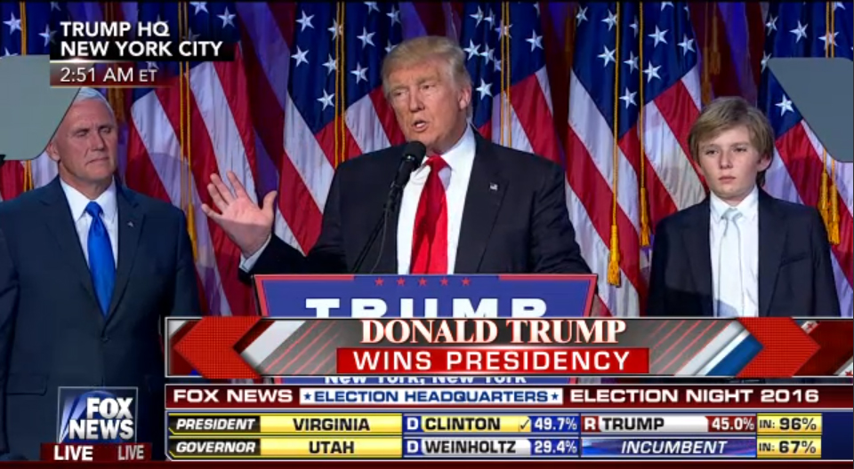 Donald Trump Wins The 2016 Presidential Election and Will Be The